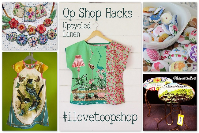 Upcycled Linen – Op Shop Hacks